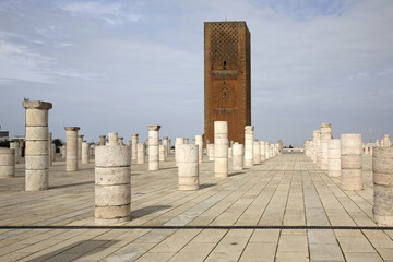 Hassan Tower in Rabat. Morocco