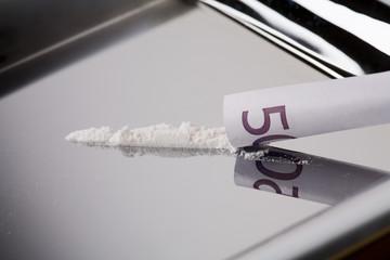 Kokain mit fünfhundert Euro-Schein
