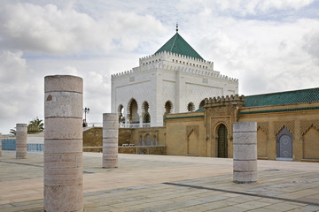 Mausoleum of Mohammed V in Rabat. Morocco