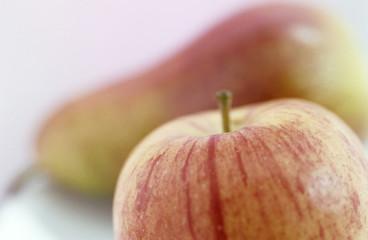 Apfel und Birne, Nahaufnahme