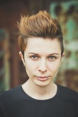 young lesbian stylish hair style woman