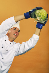 Küchenchef Koch halten Kohl
