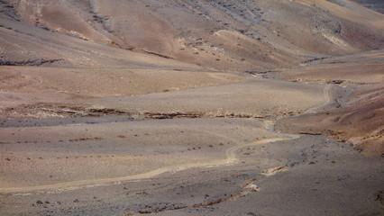 Camino de Tierra En Zona Desértica. Lanzarote
