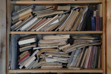 Bücher und Zeitschriften auf Regalen