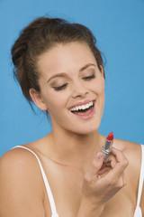 Frau jung mit Lippenstift, Portrait