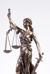 Justitia figur, close-up