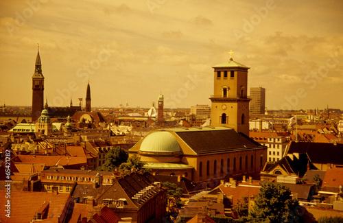 Blick über Kopenhagen Dänemark