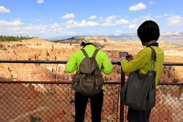 touristes à inspiration point, Bryce canyon