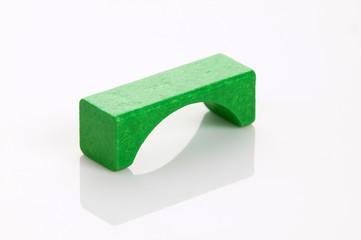 grüner Bauklotz
