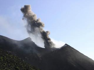 Stromboli - Italien, in den Krater zu sehen