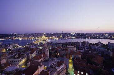 Istanbul, Blick vom Galata-Turm, der Türkei