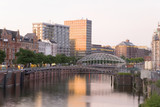 Deutschland, Hamburg, Kanal Zwischen Speicherstadt und Altstadt