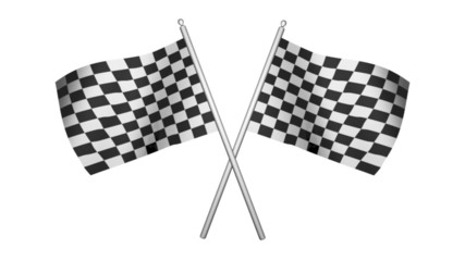 Racing Flags - 3d animation, with alpha matte
