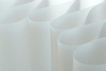 Papier, gebogen, grafisch ausgerichtet