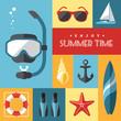 Summer icons set 1 - 65423628