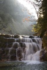 Deutschland, Bayern, Pöllat Canyon, Wasserfall