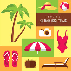 Summer icons set 2