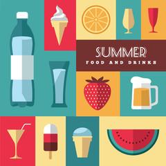 Summer icons set 3