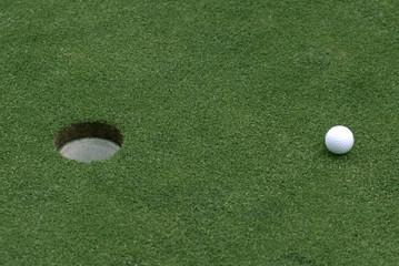 Golfplatz, close-up