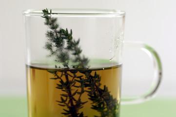Glas Thymiantee, close-up