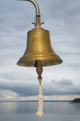 Glocke auf dem Schiff, close up schiffsglocke