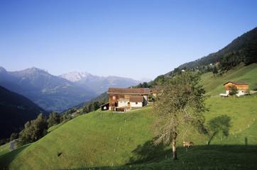 Österreich, Alpen, Blick Bartholomäberg