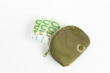 Geldbörse mit Euro-Banknoten