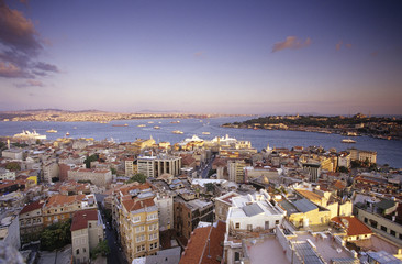 Türkei, Istanbul, Ansicht der Stadtansicht vom Galata-Turm