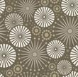Folk Simple beige Seamless pattern retro flowers