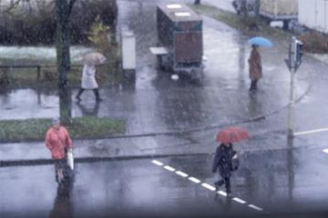 Es regnet Katzen und Hunde, München, Deutschland, Wetter