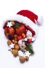 Nikolausmütze mit Früchten
