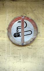 Nichtraucher Schild, close-up