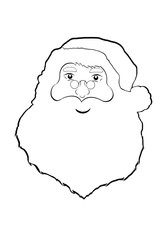 Santa Claus cartoon isolated on white