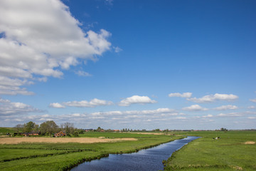 River along the dollard route in Ostfriesland