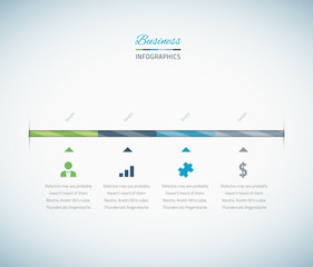 Infographic business timeline with vector icons