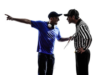 american football referee and coach conflict dispute
