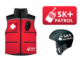 Ski patrol symbol and uniform