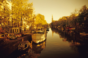 Prinsengracht, Westerkerk, Amsterdam, Holland