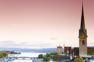 Schweiz, Zürich, Blick auf die Stadt