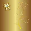 Floral greeting card ,abstract, background.