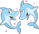 dolphin in love