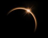 Solar eclipse in orange color - 65428675