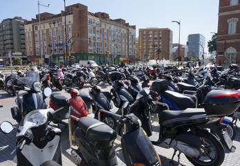 Malaga Parked Scooters