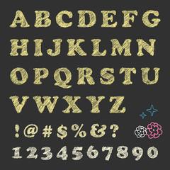 Blackboard scratching letters