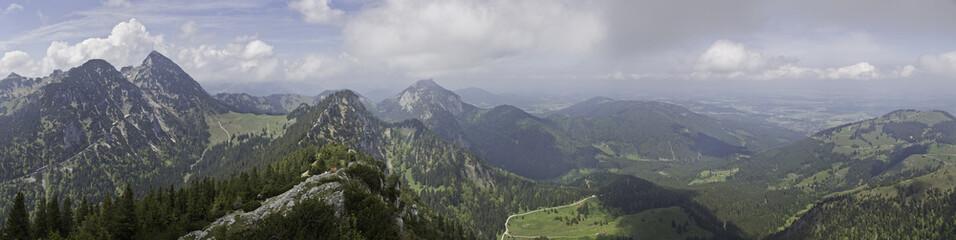 alpenpanorama mit wendelstein und breitenstein