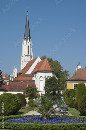 Small Church near Shoenbrunn Palace in Vienna, Austria