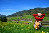 Fototapety Wandern, Urlaub, Berge, Rast