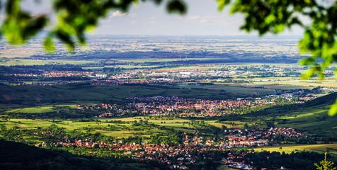 Bird-fly Alsace view