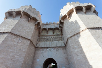 Towers of Serranos, medieval gate in Valencia