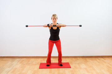 Body bar exercise